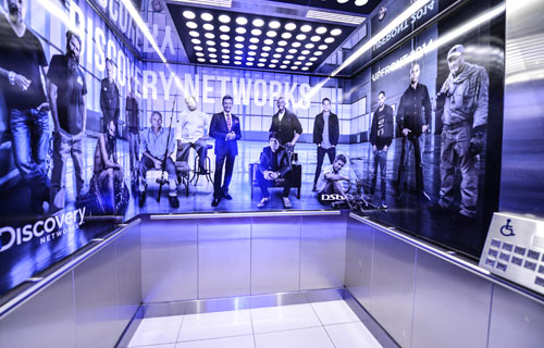 Branded-elevator-at-Discovery-Networks-Upfront-2013-1