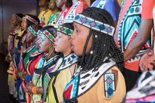 African Choir singing