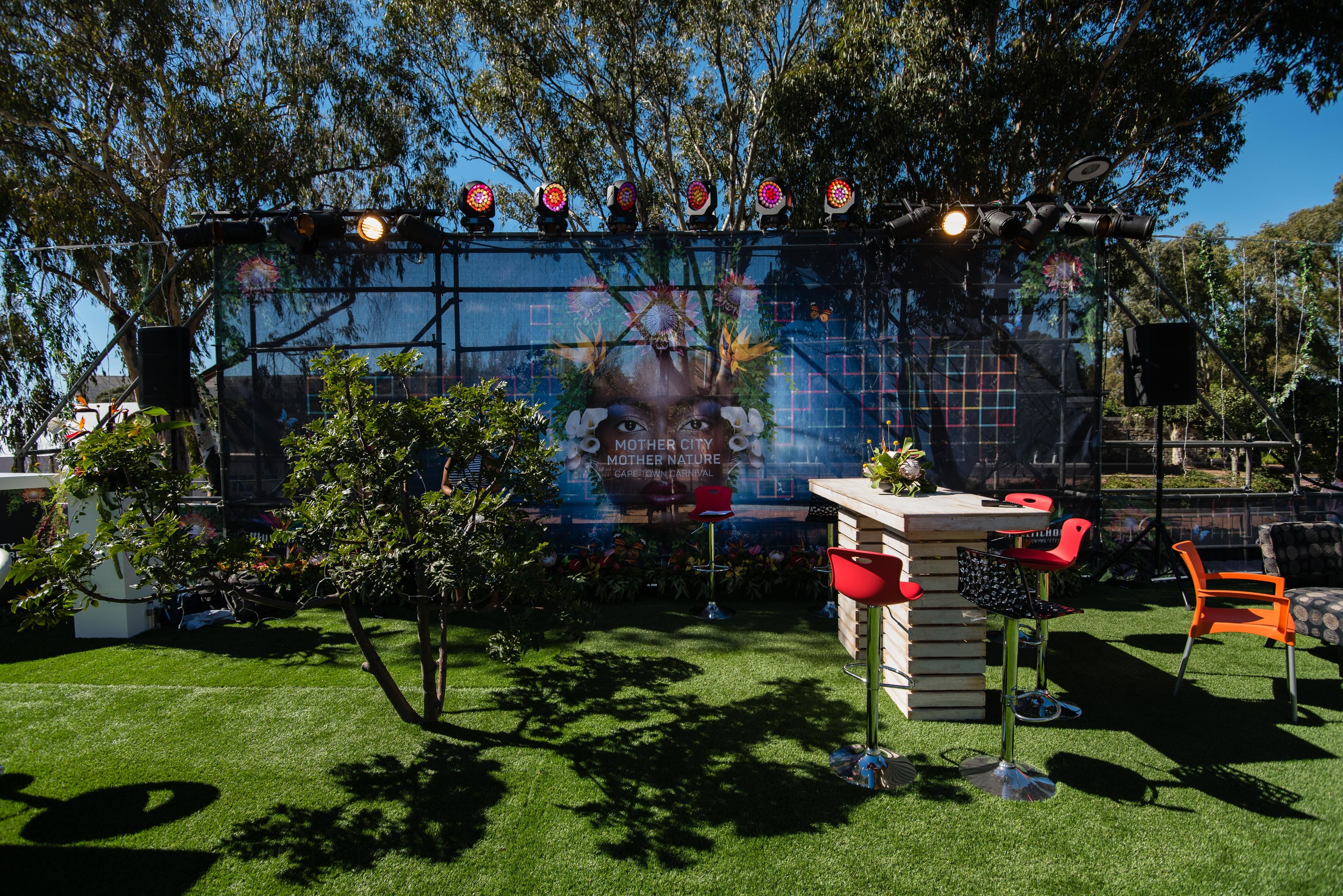 M-NET & DStv Mother City Mother Nature theme Stand
