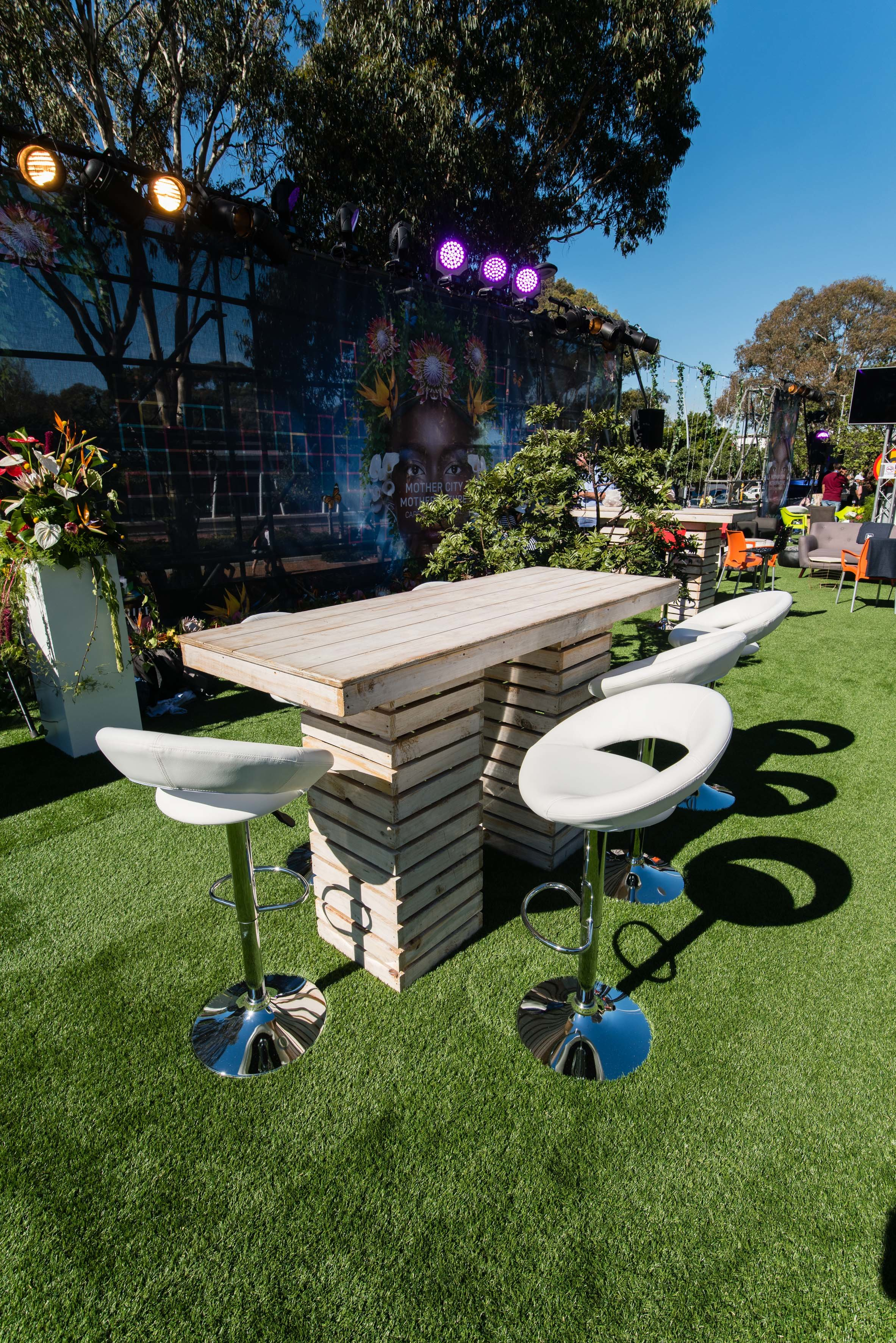 DSTV Hospitality Stand Table and Chairs