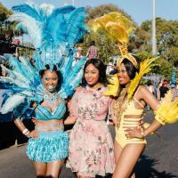 Posing For Pictures At The Cape Town Carnival