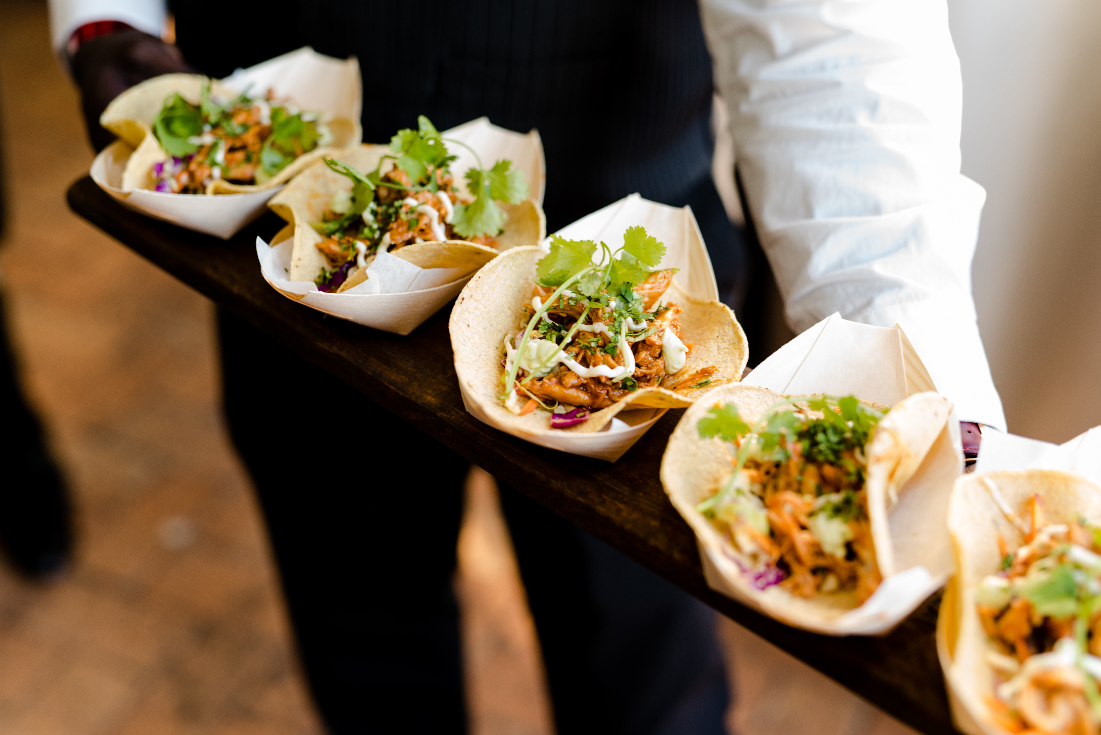 Tacos served at the DStv event
