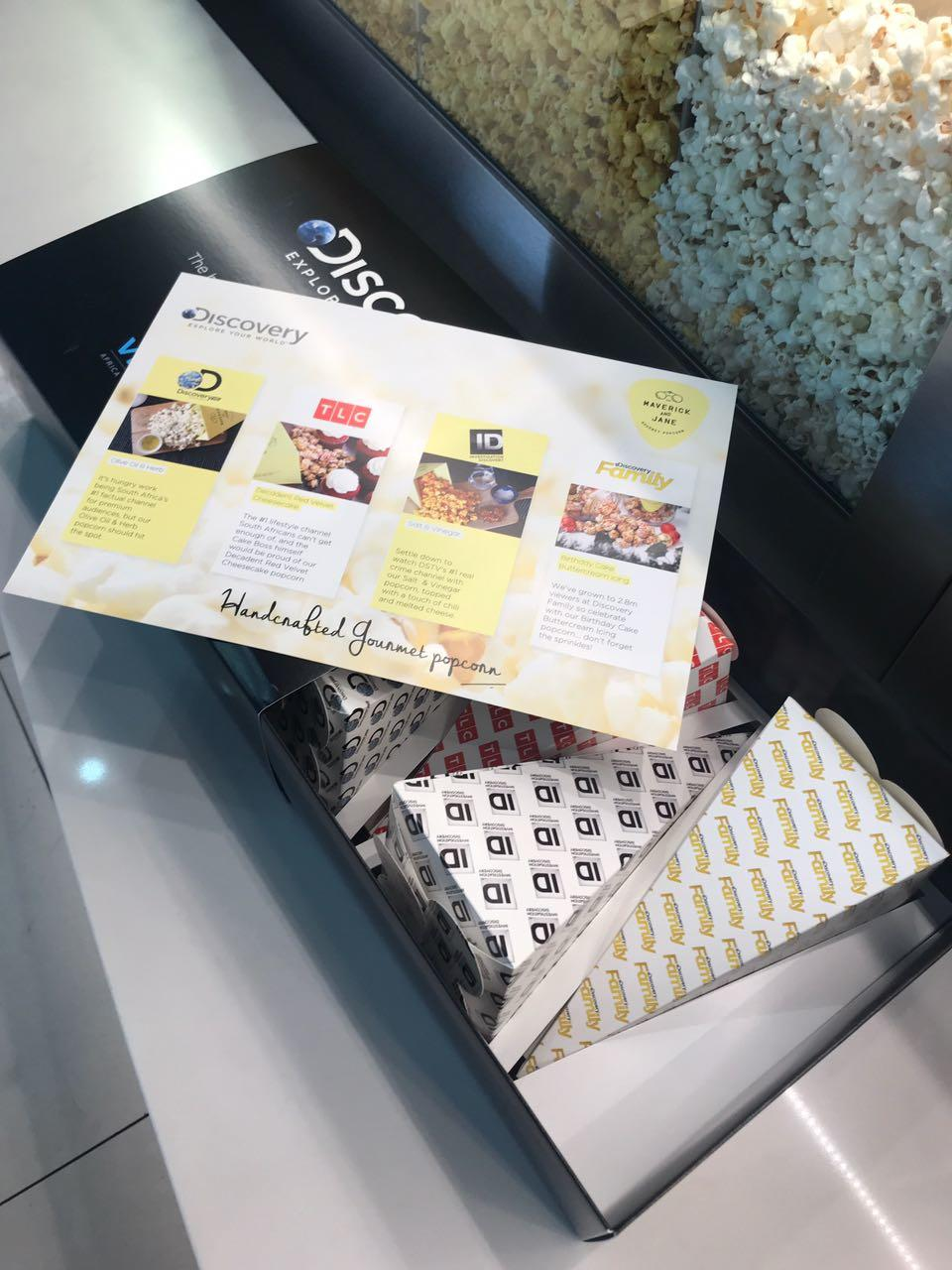 Flavours of Maverick & Jane Gourmet Popcorn at the Discovery Networks campaign 2018