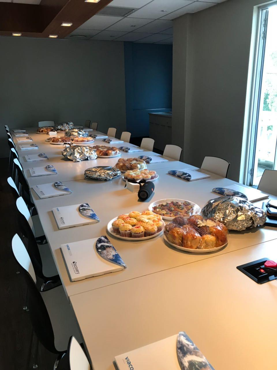 Boardroom set up for training at Viacom Networks' location
