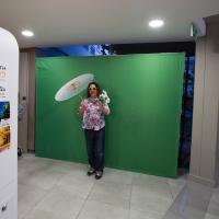 Photo Booth At The Mediamark Ambush Marketing Stunt
