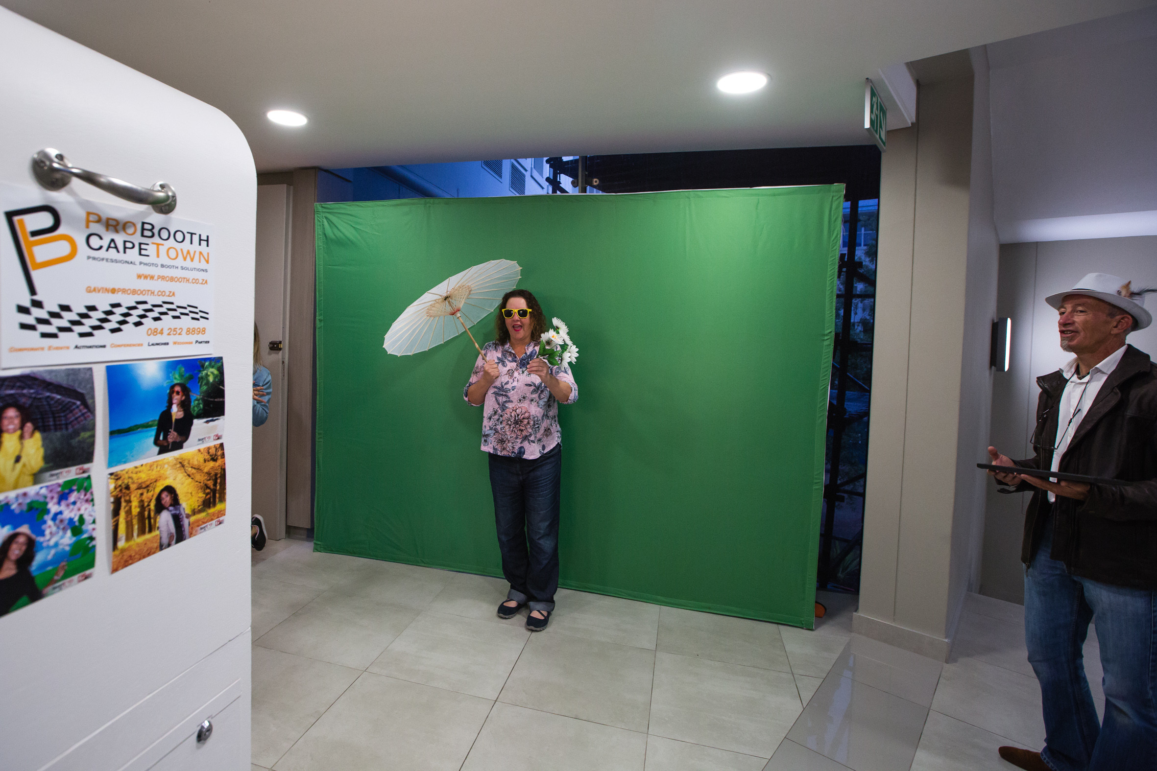 Photo Booth at the Mediamark ambush marketing stunt