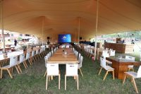 Table Set Up At The British American Tobacco Year-end Function
