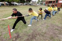 Pulling At The Tug-of-war Game At The British American Tobacco Year-end Function