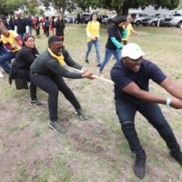 Tug-of-war Teams At The British American Tobacco Year-end Function