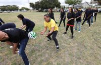 Passing The Ball At The British American Tobacco Year-end Function