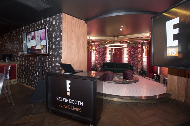 E! Entertainment 15 Birthday Bash Selfie Booth Setup
