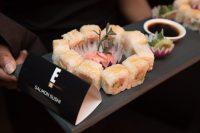 Platter Of Salmon Sushi At The E! Entertainment 15 Birthday Bash