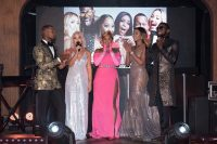 On Stage With Celebrities At The E! Entertainment 15th Birthday Bash