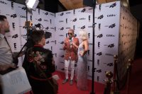Celebrities Giving Interviews At The E! Entertainment 15 Birthday Party
