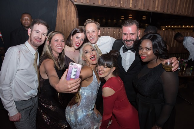 Selfies at the E! Entertainment Birthday Celebration