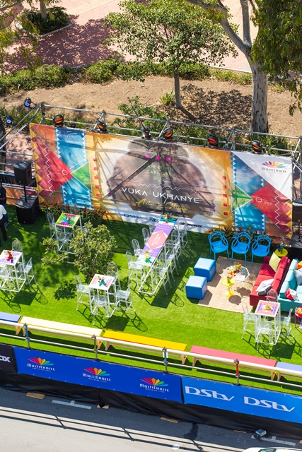View of Multichoice's Hospitality Stand at the Cape Town Carnival 2019