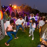Dancing At Multichoice Hospitality Stand
